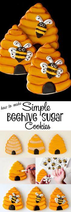 How to Make Simple Beehive Cookies | The Bearfoot Baker