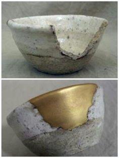 kintsugi, the japan art of repairing broken things with lacque and golden dust Kintsugi, Wabi Sabi, Ceramic Pottery, Ceramic Art, Sofa Inspiration, Make Do And Mend, Japanese Ceramics, Tea Ceremony, Japanese Art