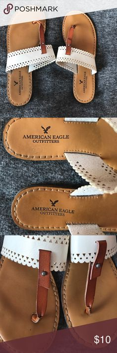 American Eagle flip flops White, more fancy flip flops. Slightly worn. American Eagle Outfitters Shoes Sandals
