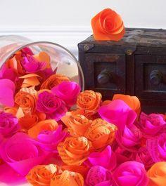 Krista Sew Inspired: Fuschia and Fire Orange