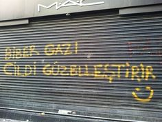 """""""Pepper gas, good for your skin."""" - Istanbul graffiti."""