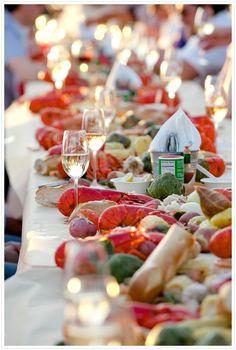 Image result for lobster boil picnic
