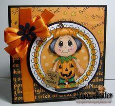 Pumpkin Kiddles stamp from www.digitaldelightsbyloubyloo.com