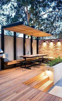 Patio Design Best Pergola Ideas 21 Watonmuni Com Outside Patio, Small Backyard Patio, Backyard Pergola, Backyard Landscaping, Landscaping Ideas, Grill Gazebo, Backyard Seating, Modern Backyard, Patio Roof
