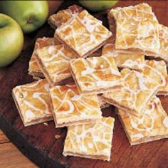 Apple Danish Recipe -A friend gave me this recipe that makes good use of our bountiful apple harvest. It's a delightful addition to breakfast or brunch. Apple Desserts, Apple Recipes, Just Desserts, Baking Recipes, Delicious Desserts, Dessert Recipes, Apple Snacks, Bar Recipes, Fall Desserts