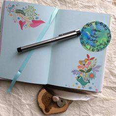 Interior of Roger la Borde softback journal with illustrations by Helen Dardik
