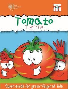 Tomato 'Tigerella' seeds from Thompson & Morgan - experts in the garden since 1855 Fruit Cage, Tomato Seeds, Fruit And Veg, Animal Party, Aqa, Kids, Children, Vegetables, Gardening