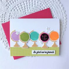 So Glad We're Friends Card by Melissa Bickford for Papertrey Ink (May 2018)