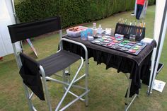 face painting set-up - good article + more pics