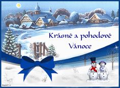 vanoce_vanocni_prani_pranicka_2 Christmas Images, Christmas Cards, Merry Christmas, Animation, Czech Republic, Advent, Noel, Christmas E Cards, Merry Little Christmas