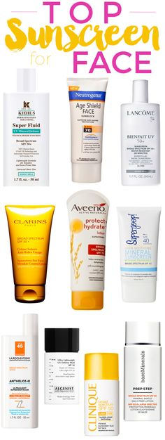 Top Sunscreens for Face.