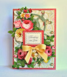 Cottage Roses 3D stickers.  I LOVE SHEMAINE SMITH!  GORGEOUS STUFF, REALLY DOES ANNA JUSTICE!