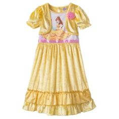 Disney Princess Belle Mock-Layer Dress-Up Nightgown - Toddler