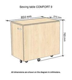 Comfort 9 | Table pour Machine à Coudre | (Oak Kendal Cognac): Amazon.fr: Cuisine & Maison Table For Small Space, Small Spaces, Sewing Table, Amazon Fr, Storage Chest, Sofa, Outdoor Decor, Furniture, Home Decor