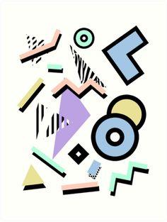 Pattern Vaporwave Memphis Pastel Squiggles' Travel Mug by 80s Background, Memphis Milano, Pastel Wallpaper, Vaporwave, Chicago Cubs Logo, Tshirt Colors, Color Schemes, Street Art, Logo Design