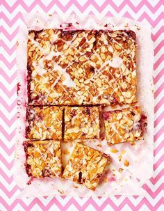 Bakewell Slice - The Happy Foodie