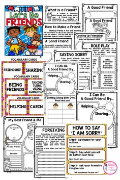This extensive packet includes all you need for two to three-week's worth of ELA and Social Studies instruction on friendship and how to be a friend. Activities are fun, engaging, and meaningful. Students will be able to interact with each other as well as share their own understanding of friendship and what it means to be a good friend.