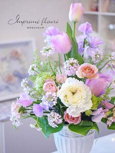 ピンクダイヤモンドのチューリップ の画像|British & French style flower salon IMPRIME FLEURI(アンプリメフルリ)