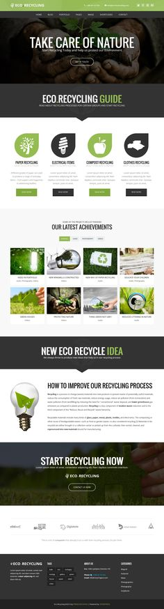EcoRecycling - a Multipurpose Wordpress Theme #web #wp #enviromental