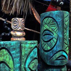 Tiki TOny Tangaroa mug and carvings