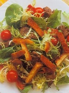 Chicken Liver Bacon and Tomato Salad Recipe http://www.mysaladrecipe.com/chicken-liver-bacon-and-tomato-salad/