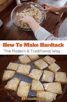 Modern Hardtack How to make Hardtack Biscuits. Try our traditional and modern recipes for this survival food, which was a food staple for soldiers during the civil war. Emergency Food, Survival Food, Outdoor Survival, Survival Prepping, Survival Skills, Emergency Preparedness, Survival Hacks, Survival Stuff, Camping Survival