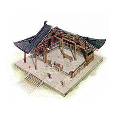 文史網 – 這位台灣人用剖視圖畫的中國古建築,美得讓人驚艷! 明嘉靖九年始建 清光緒重建 北京天壇祈年殿