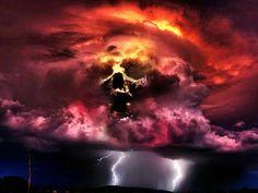 Skull clouds
