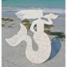 White Mystical Mermaid Wall Art