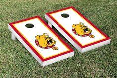Ferris State University Bulldogs Framed Border Cornhole Toss Game