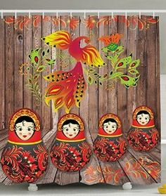 853d353977e9 Amazon.com - Rustic Decor Russian Matryoshka Dolls on Wooden Planks Gifts  for Her Beautiful