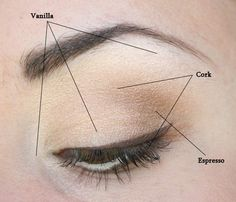Great tutorials about how to apply eye shadow.  This look is very natural and great for daytime.  This site has great ideas for smokey and dramatic eye looks also.