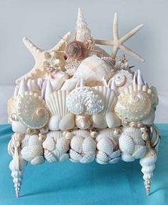 Oceana Splash, Seashell Decorated Box / Shell Decor™ > Beautiful, decorated Sea Shell and Seashell Mirrors.