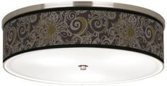"Stacy Garcia Ornament Metal Nickel 20 1/4"" Ceiling Light - ShopBathroomLighting.com"