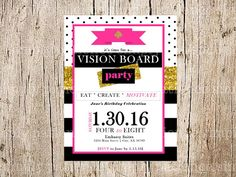 vision board party package 1 invitation 2 vision worksheet 3 goals worksheet this - Vision Board Party Invitation