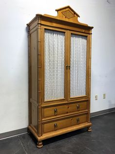 Baker Furniture, Large Shelves, Faux Bamboo, Wire Mesh, Furniture Companies, Cubbies, Armoire, Pine, Doors