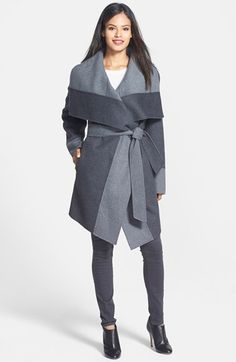 Free shipping and returns on Diane von Furstenberg 'Mackenzie' Two-Tone Cozy Coat at Nordstrom.com. An oversized shawl collar lends a sumptuous look to an asymmetrical wrap coat that's reversible.