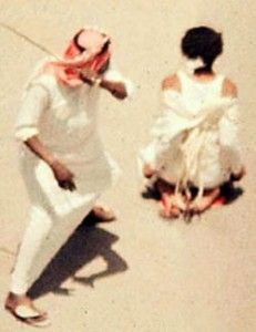 Saudi-Arabia:  Under Sharia Law, Saudi woman received 100 lashes for the crime of being raped.
