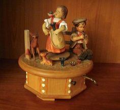 True Love  Anri Music Box Thorens  Hand Carved by elodiesmelodies, $199.00