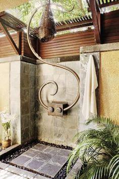 Wow... {outdoor shower}
