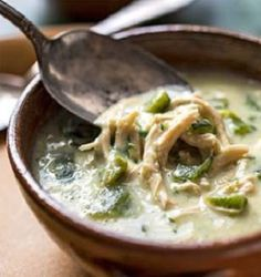 Green Chile-Chicken Soup-is a delicious recipe for a spicy, creamy, hearty, Southwestern-style chicken soup. Key Ingredients include: Boneless chicken breasts and Anaheim peppers cooked in chicken broth. It is well seasoned and cooked on the stovetop. Total time, start to finish, is about (1) hour. It is also a diabetic-friendly and Weight Watchers (7 SmartPoints), (7 PointsPlus) recipe. Makes (4) servings with a (1-1/2 cup) serving size.