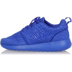 NIKE Fabric ROSHE ONE  Sneakers ($80) ❤ liked on Polyvore featuring shoes, sneakers, blue, vintage shoes, nike shoes, vintage blue shoes, self tying sneakers and nike trainers