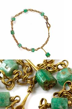 A Roman Gold and Emerald Bracelet, ca 2nd century AD