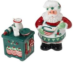 Get the Fitz and Floyd Santa's Kitchen Salt & Pepper securely at charingskitchen.com