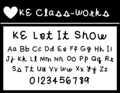 KE Let It SnowThis is for personal use!*Check out my store for single font license for commercial use!Hope you enjoy!