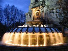 Fuente de la Plaza de España. Madrid