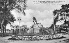 A 1910 postcard commemorating the Minute Man Statue dedication.