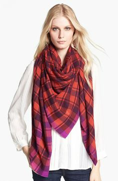 MARC BY MARC JACOBS Plaid Scarf | Nordstrom  -- it's a cotton/wool blend. Bet I could find a big square of plaid fabric for way less than $180.!!