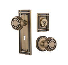 Antique Brass Craftsman Door, Modern Craftsman, Crystal Door Knobs, Door  Entry, Vintage
