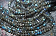 Other Loose Beads 179275: 13 X 10 Strand Fine Quality Blue Fire Labradorite Faceted Round Beads 3.50 Mm -> BUY IT NOW ONLY: $69.99 on eBay!
